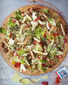 crispy polenta chicken caesar salad by Jamie Oliver