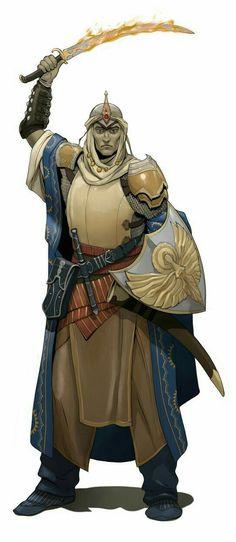 Cleric of Sarenrae - Pathfinder PFRPG DND D&D d20 fantasy