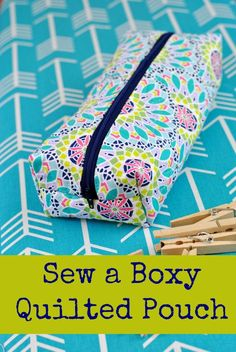 This fun tutorial will show you how to sew a basic, unlined pouch with boxed corners. It's an easy sewing pattern, even for beginners.: