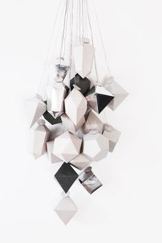DIY origami advent calendar or paper ornaments