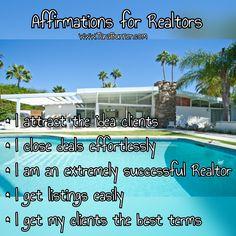 #affirmations for #realtors