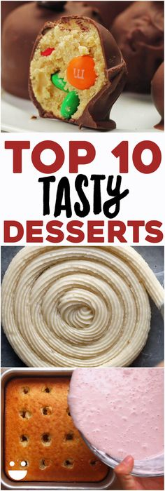 Top 10 Tasty Desserts Here Are 10 Dessert Recipes That You Need To Make A dessert a day keeps the doctor away. No Bake Desserts, Easy Desserts, Delicious Desserts, Dessert Recipes, Yummy Food, Baking Recipes, Yummy Treats, Sweet Treats, Buzzfeed Tasty
