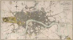 Huge Vintage Historic Map of London England 1807 Old Antique Restoration Hardware Style Map Fine Art Print Home Decor wall map