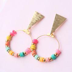 festival earrings diy & festival earrings - festival earrings bohemian - festival earrings diy - festival earrings jewelry - festival earrings etsy - music festival earrings - festival jewellery earrings - earrings for festival Diy Necklace, Diy Earrings, Earrings Handmade, Jewellery Earrings, Pendant Necklace, Diy Bracelets Easy, Colorful Bracelets, Vintage Rosen, Homemade Necklaces