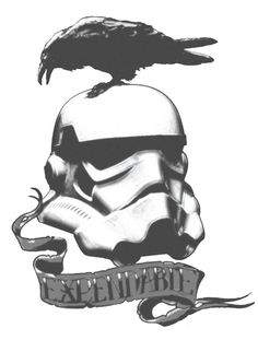 Vader's Expendables - Don Calamari - Society6.. I just want the stormtrooper head as a tattoo.. Everything else is stupid