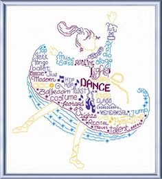 Lets Dance - cross stitch pattern designed by Ursula Michael. Category: Words.
