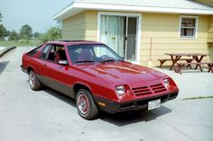 1979 Dodge Omni 024 - First car I ever bought, except mine was beige and had gold mag wheels, red vinyl interior, ran on 3 out of 4 cylinders. Only lasted a month, haha.