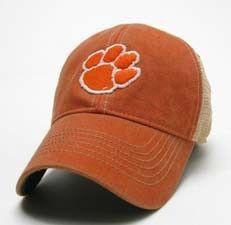 Clemson Tigers Paw Logo Legacy Old Favorite Trucker Hat - Orange