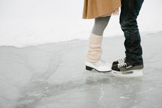 Love on Ice: Skating Engagement Photos
