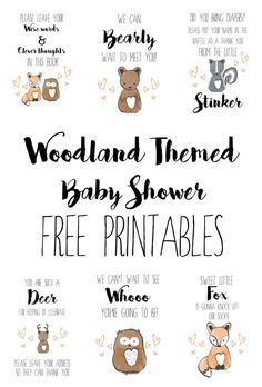 Woodland Themed Baby Shower - Free Printables trendy family must haves for the entire family ready to ship! Free shipping over $50. Top brands and stylish products
