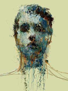Juxtapoz Magazine - Computer Generative Sketching and Paintings by Sergio Albiac Face Illustration, Illustrations, Modern Portraits, Oil Portrait, Portrait Paintings, Human Art, Figurative Art, Traditional Art, Mixed Media Art