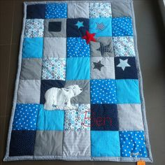 750 × 750 pixels Source by chnemann Quilt Baby, Boy Quilts, Love Sewing, Baby Sewing, Colchas Quilting, Baby Applique, Diy Bebe, Patchwork Baby, Baby Co