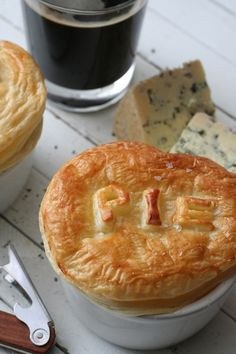 Recipe: beef, beer and blue cheese pot pies recipe @edibleireland book:  Sláinte: The Complete Guide to Irish Craft Beer and Cider