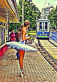 waiting for the tram#Cars#Parties#Music#CuteFaces#Summer#LOL#Travel#Love#Style