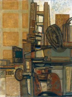 Prunella Clough (British, Lorry with Ladder. Oil on canvas, 87 x cm. Pictures Of You, Ladder, Oil On Canvas, Past, Design Inspiration, Texture, Cartoon, Antiques, British Artists