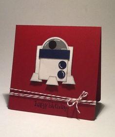 R2D2 punch art card by Carolyn Bennie | Star Wars