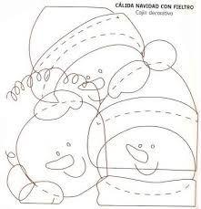 Resultado de imagen para cojines navideños con moldes