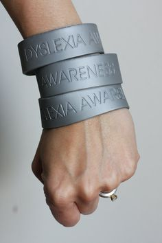 Silver Dyslexia Awareness Band by DyslexiaAwareness on Etsy, $3.00
