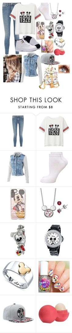 """""""Minkey"""" by karressguidycapers ❤ liked on Polyvore featuring Frame Denim, Uniqlo, Mur Mur, Dorothy Perkins, Casetify, Disney, Eos and Dooney & Bourke"""
