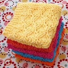 Sugar 'n Cream - Honeycomb Check Dishcloth (knit) Dishcloth Knitting Patterns, Crochet Dishcloths, Loom Knitting, Free Knitting, Crochet Patterns, Cloth Patterns, Crochet Afghans, Crochet Blankets, Knitting Needles
