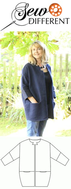 .Cocoon Jacket – FREE SEWING PATTERN <3 Deniz <3                                                                                                                                                                                 More