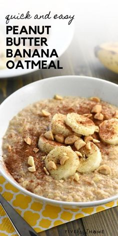 Peanut Butter Banana Oatmeal is an easy tasty breakfast idea for the family! In just a few short minutes, you can enjoy a hot, wholesome, homemade breakfast made with just a few ingredients you probably have on hand. Everyone will love this recipe! Easy Delicious Recipes, Healthy Eating Recipes, Yummy Food, Tasty, Easy Recipes, Healthy Food, Breakfast Items, Sweet Breakfast, Homemade Breakfast