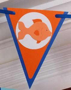 Goldfish Banner READY TO SHIP  Happy Birthday by APaperPlayground