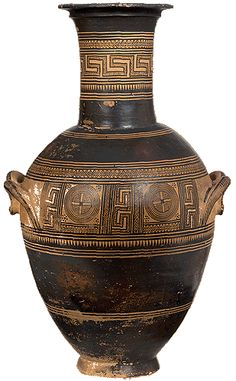 Double-handled amphora. From Athens, Kerameikos. By the Painter of Athens 216. 850-800 B.C.