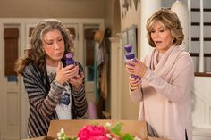 The first shot of Season 3 is Lily Tomlin dancing on the beach with a herd of animated dildos, and, yes, it's better than you can imagine. Grace and Frankie