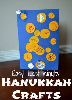 Simple Hanukkah crafts for kids - using materials you're sure to have!