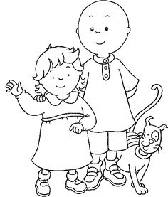 Caillou - 999 Coloring Pages