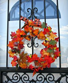 wreath on door, My Obligatory Post in Praise of Autumn theboondocksblog.com