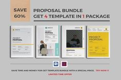 Proposal Bundle by Occy Design on @creativemarket #bundle #packaging #package #proposal #brochure #stationery #books #journal #presentation #free