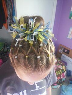 Gymnastics meet hair