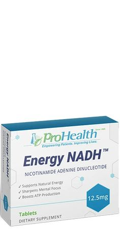 Combat Fatigue and Support Your Immune System with ProHealth's Energy NADH™ Reduced Nicotinamide Adenine Dinucleotide, known as NADH, is a naturally occurring energy-rich coenzyme of Niacin (vitamin B-3) that is essential for the production of cellular energy.