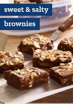 Sweet & Salty Brownies – We started with a basic brownie recipe and added crunchy roasted peanuts and a layer of gooey caramel—plus a bit of cayenne pepper for added excitement.