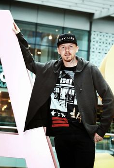 Professor Green in Givenchy - 'We are LDN Summer' Photocall #EastLDN http://www.whats-he-wearing.com/2014/08/professor-green-wears-givenchy-LA-house-t-shirt-westfield-we-are-ldn.html?spref=tw