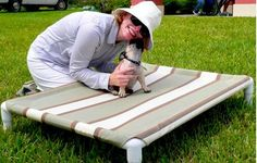 Elevated dog bed instructions  http://petprojectblog.com/archives/cats/diy-elevated-dog-bed-like-kuranda/