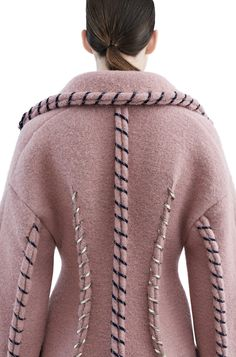 Acne Studios - Evia dbl com powder pink Shop Ready to Wear Accessories Shoes and Denim for Men and Women Pink Fashion, Fashion Show, Fashion Dresses, Womens Fashion, Fashion Trends, Fashion Fashion, Rosa Style, Design Textile, Fashion Details