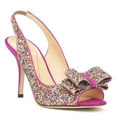 i've never thought i wanted to wear heels to my wedding, but these make me want to change my mind! oh, kate spade.