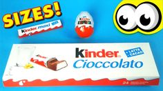 Giant Kinder Chocolate | Learn Sizes BIG BIGGER BIGGEST with Kinder Maxi Surprise Eggs