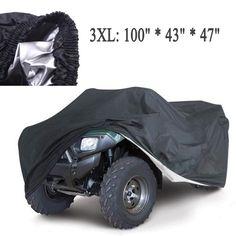 Universal Quad ATV piezas de la cubierta de la motocicleta del coche del vehículo cubre a prueba de polvo a prueba de agua resistente a prueba de polvo Anti UV tamaño 3XL