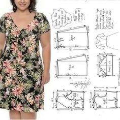 Enchanting Sewing Patterns Clone Your Clothes Ideas Dress Sewing Patterns, Sewing Patterns Free, Clothing Patterns, Make Your Own Clothes, Diy Clothes, Washi Dress, Costura Fashion, Big Size Fashion, Sewing Blouses