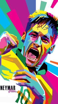 WPAP-Neymar-Web by wedhahai on DeviantArt Soccer Art, Football Art, Pop Art Portraits, Portrait Art, Arte Pop, Cristiano Messi, Neymar Jr Wallpapers, Soccer Stadium, Soccer Pictures