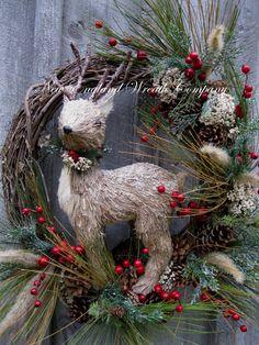 Christmas Wreath Holiday Wreath Woodland