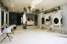 View full picture gallery of Eklectik Nail Salon Decor, Hair Salon Interior, Beauty Salon Decor, Salon Interior Design, Salon Design, Salon Chairs For Sale, Hair Salon Chairs, Living Room Inspiration, Interior Inspiration