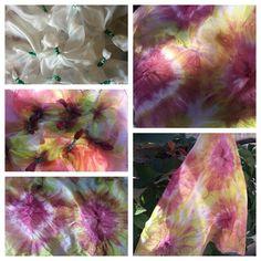 Este mes, les quiero presentar los nuevos pañuelos de seda ! Pintados con la técnica del Shibori: es una técnica japonesa que consiste en  amarrar, anudar la tela con el fin de reservar ciertas partes de esta, creando así diseños de contornos suaves y texturas arrugadas. Taller Elgatodeseda.blogpost.com