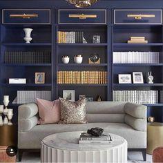 "8,509 Likes, 146 Comments - Ashley Stark Kenner (@ashleytstark) on Instagram: ""Blue and organized gorgeous room by @alibuddinteriors • • • • #art #interior #interiordesign…"""