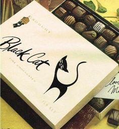 BLACK CAT CHOCOLATES - did you think these were fancy too?