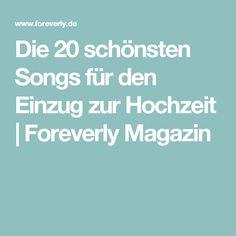 Die 20 schönsten Songs für den Einzug zur Hochzeit | Foreverly Magazin